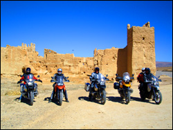 Motorcycle Group in front of Kasbah